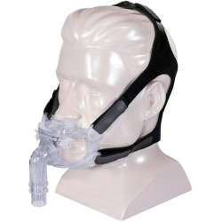 Hybrid Full Face CPAP Mask with Nasal Pillows and Headgear